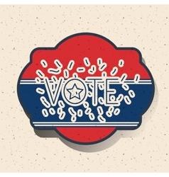Donkey and elephant of vote inside frame design vector image