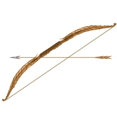 elven longbow and arrow vector image