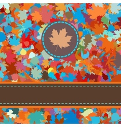 Fallen autumn leaves vector