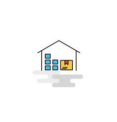 flat warehouse icon vector image