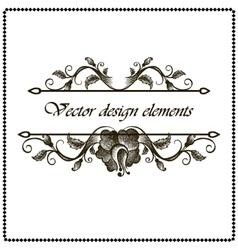 floral frame border vector image