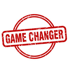 Game changer grunge stamp vector