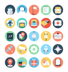 Global Logistics Colored Icons 5 vector