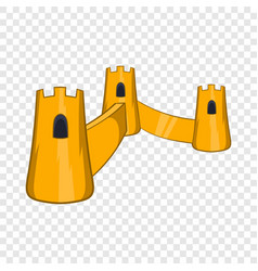 great wall of china icon cartoon style vector image