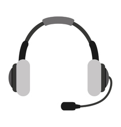 headset headphone microphone icon vector image