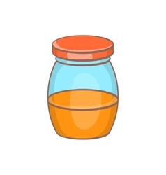 Honey jar icon cartoon style vector