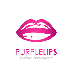 Icons female lips print vector
