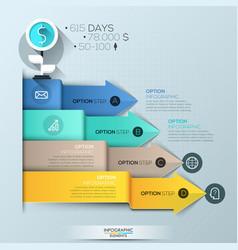 infographic design template 4 multicolored vector image