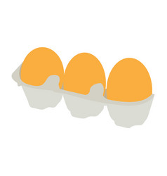 Isolated group of eggs vector