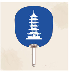 japanese fan japan pagoda background image vector image