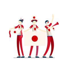 Japanese flag japan people vector