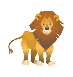 lion cartoon wild animal nature african vector image