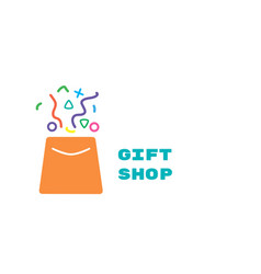 Logo for gift shop vector