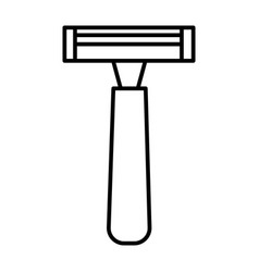 male razor line icon sign on vector image