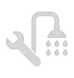 mesh plumbing icon vector image