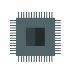 Micro chip icon vector