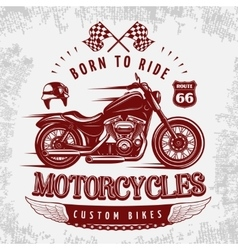 Motorcycle Grey Poster vector