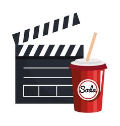 Movie entertainment elements icon vector