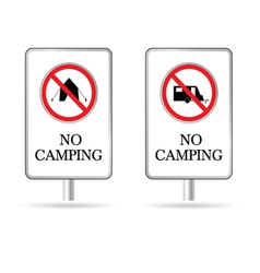 no camping sign vector image
