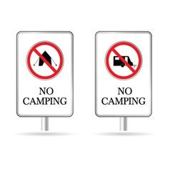 No camping sign vector