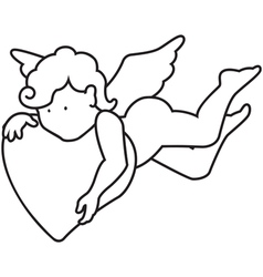 Outline angel vector image