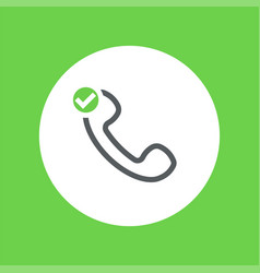 outline telephone handset symbol vector image