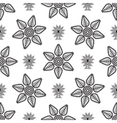 Paisley drop and line flower pattern vector