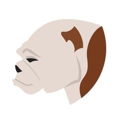 Pedigree dog head bulldog vector