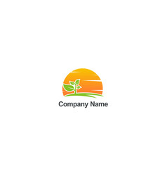 plant nature organic abstract company logo vector image