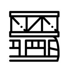 public transport suspention railway icon vector image