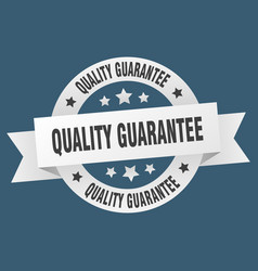 quality guarantee ribbon quality guarantee round vector image