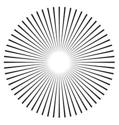 Rays beams element sunburst starburst shape on vector
