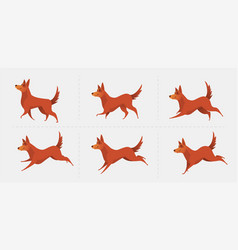 Red dog symbol of the year 2018 vector
