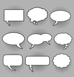 Retro oval and rectangle bam speech bubbles vector
