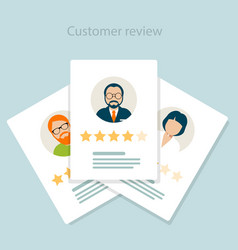 Reviewer opinion - customer review of service vector