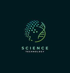 science logo design symbol template vector image