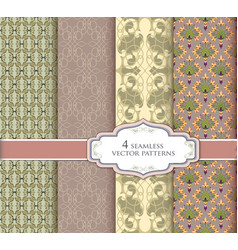 seamless pattern vintage set abstract texture vector image