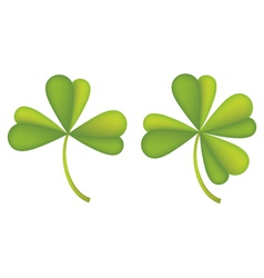 Set of clover leaves2 vector