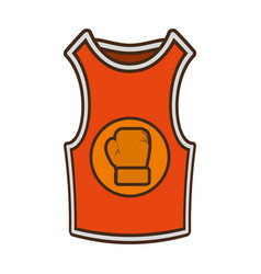 Shirt boxing uniform icon vector