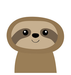 Sloth icon cute cartoon kawaii bacharacter vector