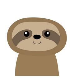 sloth icon cute cartoon kawaii bacharacter vector image