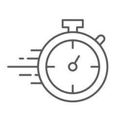 stopwatch thin line icon watch and countdown vector image
