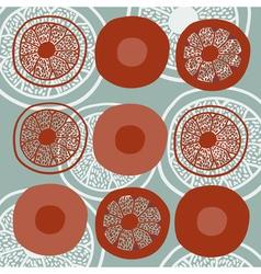 stylized orange segments vector image