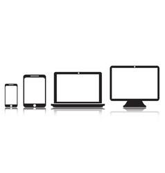 tablet laptop screen phone flat vector image
