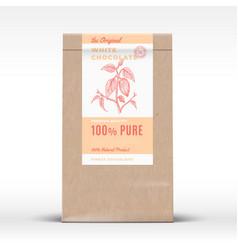 the original white chocolate craft paper bag vector image