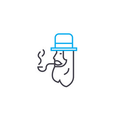 tube smoking linear icon concept tube smoking vector image