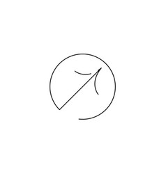upper right arrow icon vector image