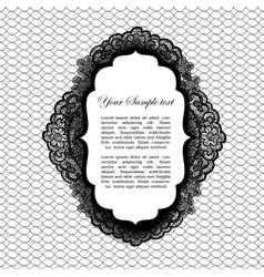 vintage lacy label vector image