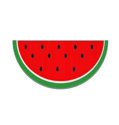 watermelon icon on white background flat style vector image