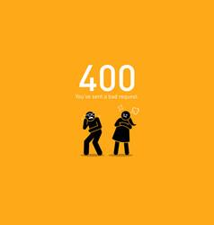 Website error 400 bad request artwork depicts vector